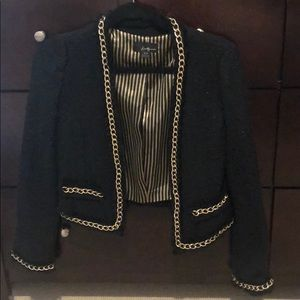 Tweed blazer with chains
